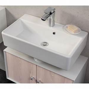 Waschbeckenunterschrank 40 Cm Tief : fackelmann waschbecken 60 cm ix wei kaufen bei obi ~ Lateststills.com Haus und Dekorationen