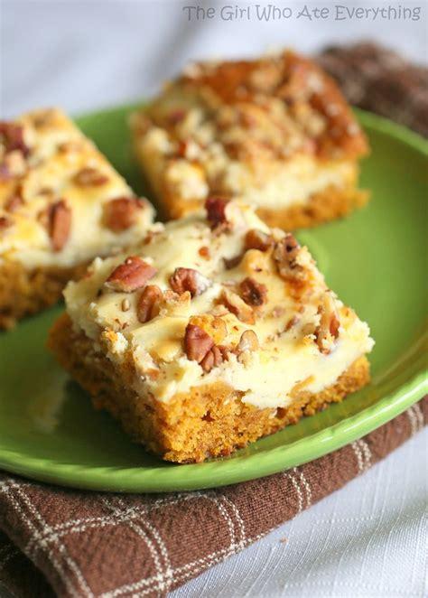 Pumpkin Cream Cheese Bars Recipe