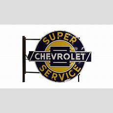 Chevrolet Super Service 102x84x12  S120  The Walker Sign
