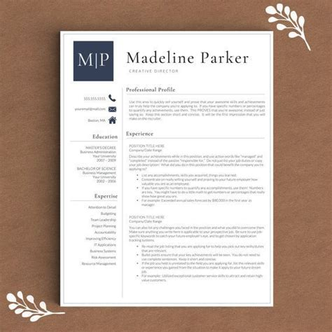 2 Page Resume Template by Professional Resume Template For Word Pages 1 2 And 3