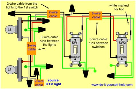 Way Wiring Diagrams With Multiple Lights