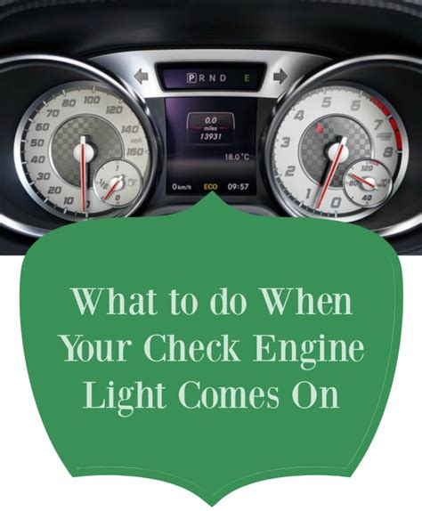 light came on what to do when your check engine light comes on