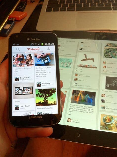hands  major pinterest app update  iphone ipad