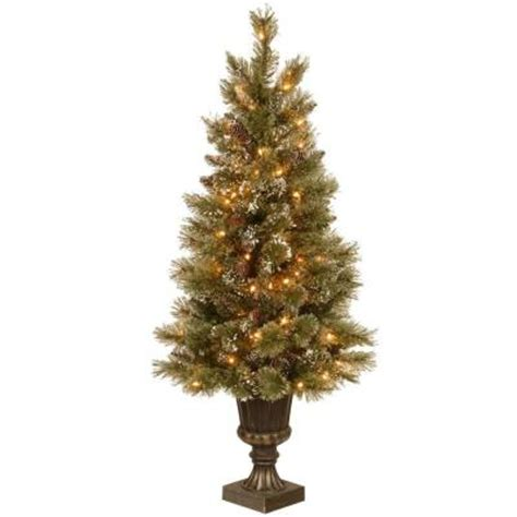 martha stewart faux christmas tree martha stewart living 4 5 ft pre lit sparkling pine