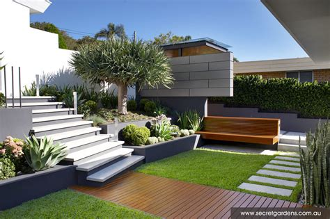 coastal gardens landscape outdoor spaces coastal garden caringbah sydney detail collective interior design