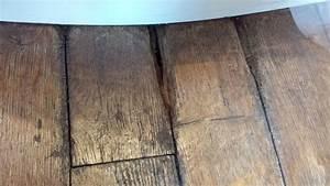 parquet de salle de bain qui a pris l39humidite With parquet noirci par l humidité