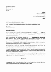 Resiliation Assurance Auto Vente : lettre de r siliation de l 39 abonnement internet free pour modification des conditions g n rales ~ Gottalentnigeria.com Avis de Voitures