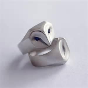 owl wedding ring barn owl ring