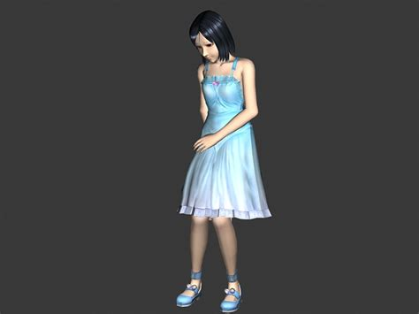 teenbabe animated rigged  model ds max files