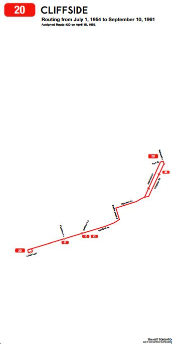 cliffside transit toronto surface route histories