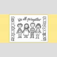 We All Fit Together Mindfulness Colouring Sheet Adult Colouring, Returning