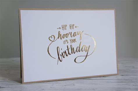 klappkarte happy birthday lettering gold  honey