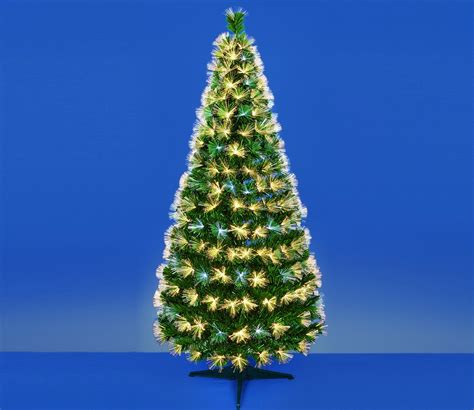 premier fibre optic led christmas tree with warm white