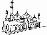 Masjid Mosque Gambar Mewarnai Clip Coloring Clipart Nasreddin Moving Clipartbest Cliparts sketch template