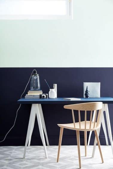 bureau couleur peinture bureau couleur bleu et blanc
