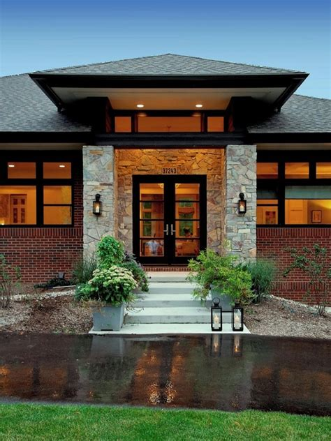 contemporary prairie style house plans small home one prairie style home on inspirationde