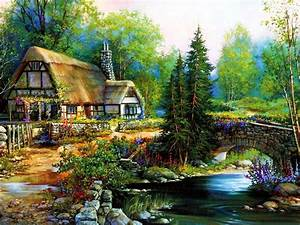 Peaceful cottage HD desktop wallpaper : Widescreen : High ...