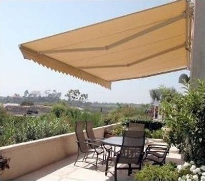 diy folding arm awning  wide   projection beige
