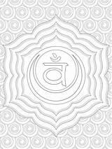 Coloring Chakra Chakras Sacral Symbols Printable Colouring Yoga Sheets Adult Spiritual Template Meditation Getdrawings Getcolorings sketch template