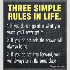 'three Simple Rules In Life' Blogzerodeancom