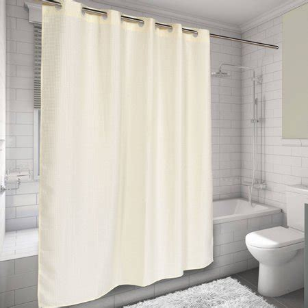 75 Shower Curtain by Ez On Hookless Fabric Shower Curtain Waffle Weave 70 Quot X