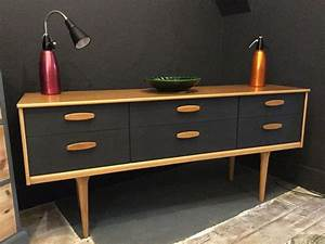 Sideboard Retro Look : danish style retro sideboard painted in graphite by autentico paint home pinterest ~ Markanthonyermac.com Haus und Dekorationen
