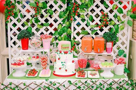 kara 39 s party ideas strawberry 1st birthday party kara 39 s kara 39 s party ideas sweet table from a strawberry garden