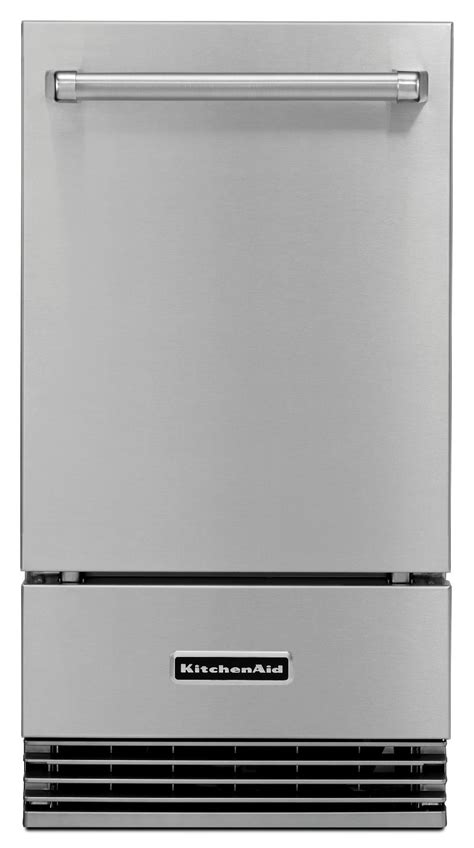 kitchenaid kuionnzs  outdoor ice maker stainless steel
