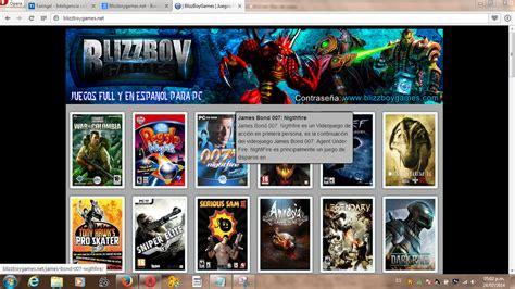 juegos ahora descargar de la pc pocos requisitos