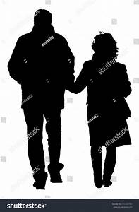 Happy Couple Holding Hands Walking Vector Stock Vector ...