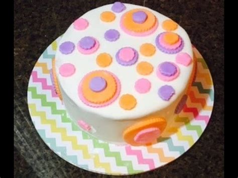 Simple Fondant Cake Decorating Youtube