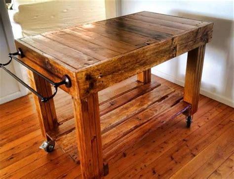 pallet kitchen butcher style island pallet furniture plans