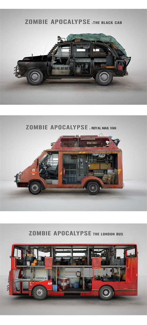 survival truck cer zombie survival vehicles design via donal o keeffe