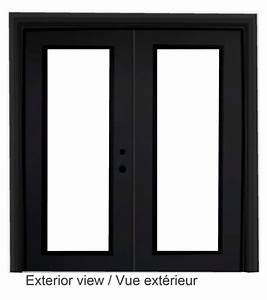 stanley doors porte fenetre en acier noir 639 sur 82375 With porte fenetre en acier
