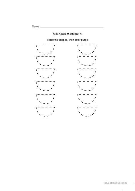 semi circle worksheet worksheet  esl printable