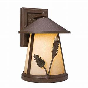 Home Decorators Collection Lodge 1-Light Weathered Spruce