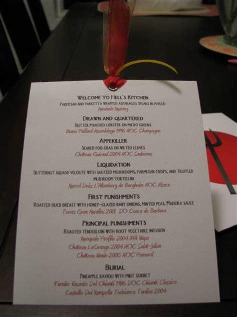 hells kitchen menu  bondgurl  splitcoaststampers
