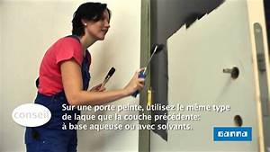 Peindre une porte interieure en la bloquant video for Peindre porte interieure 2 couleurs