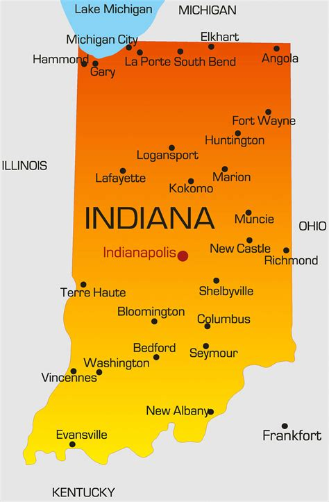 Indiana Map - Guide of the World