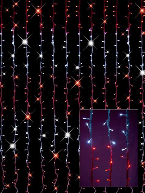 synchronised white bright led curtain light