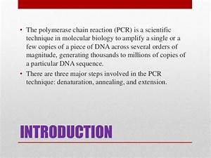Pcr Polymerase Chain Reaction Basic Concept Of Pcr