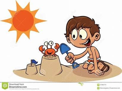 Sand Castle Cartoon Building Kid Clip Illustration
