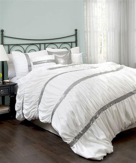 white glitter sky comforter set