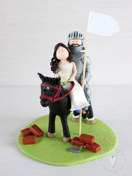 mittelalter ritter brautpaar mit pferd tortenfigur fuer die