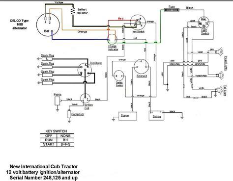 wiring diagram for key start 12 volt alternator conversion