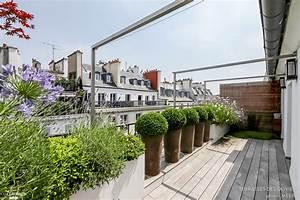 conception et realisation d39un balcon a rambuteau paris With jardins et terrasses photos 3 amenagement dun espace vert avec terrasse par le