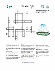 The Water Cycle  Crossword Puzzle Worksheet For 3rd