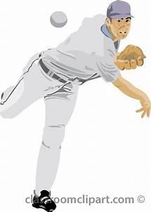 Baseball Clipart - Baseball Pitcher 03 07