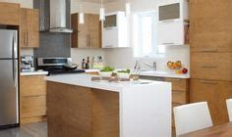 cuisine contemporaine comptoir de stratifi 233 armoire de m 233 lamine et thermoplastique blanc