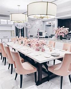 Best 25 pink dining rooms ideas on pinterest pink for Kitchen colors with white cabinets with sesame street wall art